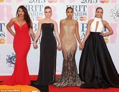 Little Minxes: Little Mix put on an eye-catching sartorial display as they descended upon ...