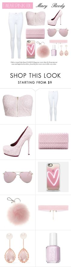 """Untitled #33"" by hilaryscragg ❤ liked on Polyvore featuring NLY Trend, Miss Selfridge, Yves Saint Laurent, Bottega Veneta, Le Specs, Casetify, Larkspur & Hawk, Essie and IWearPinkFor"