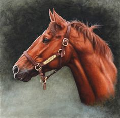 Secretariat by painterman33 on deviantART.  Read somewhere: There have been three horses that captured the country's imagination; Man O' War, who was the country's horse, Seabiscuit, who was the people's horse, and Secretariat, who was God's horse.