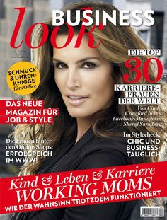 Business look! Shops, Business Look, Cindy Crawford, Magazines, Cover, Movie Posters, Woman, Journals, Tents