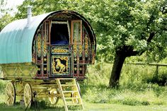 Gypsy caravan might have resembled some Roman carrucas
