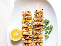 Spiced Salmon Kebabs Recipe | Epicurious.com