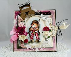Tilda blowing kisses from With Love Collection 2013 from Magnolia stamps.