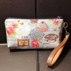 zip pouch cupcake tea cosmetic pouch gadget by KatunKatunBags