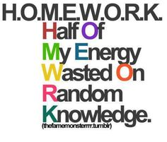 Statistics against homework