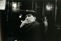 "Walker Evans. From his portraits shot in the New York subway between 1938 and 1941 using a hidden camera, later collected in ""Many Are Called""."