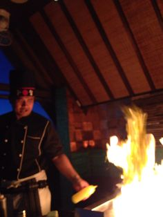 Rooftop teppanyaki with entertaining chef from L hotel Seminyak bali !