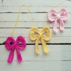Bow Crochet Applique Pattern tutorial