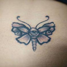Moth I did last night👁️ day old  #moth #eyeball #blackandgreytattoo #blackworktattoo #blackwork #tattooflash #iseeyou #tattoos #tattoo #northridge #sfv #ladytattooers #losangeles #csun #artist #tattooed #tattooart #hollywood #reseda