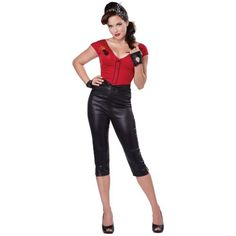 50s costume adult rockabilly girl outfit halloween fancy dress - Halloween Mobster Costumes