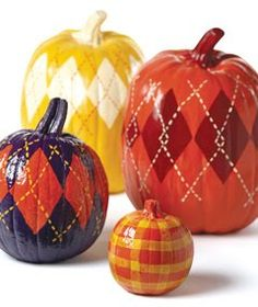 love the argyle pumpkins!