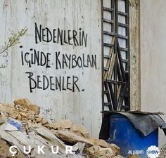 Çukur Big Words, Cool Words, Tumblr Wallpaper, Wallpaper Quotes, Beautiful Mind Quotes, Meaningful Sentences, Street Graffiti, Small Letters, Underwater Photography