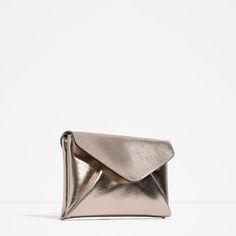 Image 1 of METALLIC CLUTCH BAG from Zara