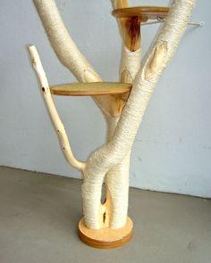 Kratzbaum selber bauen aus holz einen kratzbaum selber machen zuk nftige projekte pinterest - Katzenmobel selber bauen ...
