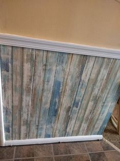 Roommates Blue Distressed Wood Vinyl Peelable Roll Covers 28 18 Sq Ft Rmk9052wp The Home Depot How To Distress Wood Distressed Wood Wallpaper Brick Exterior House