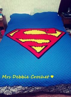 This is a queen size standard stitch. Made by me Pattern and instructions are from link below. Happy Birthday Dragon, Superman Crochet, Toronto Blue Jays Logo, Sisters By Heart, Wooden Pallet Furniture, Superman Logo, C2c, Funny Games, Afghans