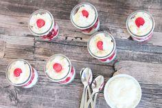 Kokos-Himbeer-Nachspeise Food And Drink, Pudding, Sweets, Vegetables, Super, Breakfast, Desserts, Halloween, Raspberries
