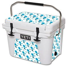 MightySkins Protective Vinyl Skin Decal for YETI Roadie 20 qt Cooler wrap cover sticker skins Whales >>> Read more  at the image link.