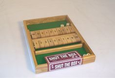 Double Sided Shut The Box. #boardgames