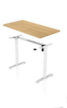 King House Ergonomic Desk – Electrically Height Adjustable (White Frame with Maple Color - Arbeitszimmer Work Station Desk, Drafting Desk, Home Accessories, Household, Living Furniture, Pinterest Blog, Super, Color, People
