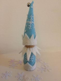 Jack Frost Winter Peg Doll Gnome