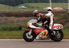 1981 Barry Sheene as the world's first taxi bike using Lucky as a guinea pig....
