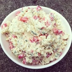 White Cheddar Chive Pimento Cheese via Southern Living