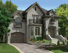 European Elevation Of Plan 48058. Find This Pin And More On European Home  Plans ... Design