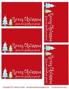 Christmas treat bag toppers