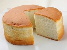 Made without any butter, this vanilla sponge cake is a healthy dessert that can be eaten by itself or used as the basic cake for another dessert recipe.