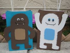 Sasquatch or Yeti Birthday Party Favor Bag by christinescritters on Etsy https://www.etsy.com/listing/218736417/sasquatch-or-yeti-birthday-party-favor