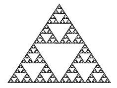 Sierpinski triangle technique