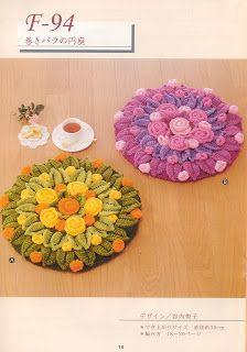 ஜMirian-receitas de crochêஜ: Flor Dália em lã
