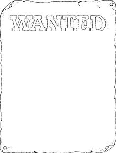 Wanted poster color page, coloring pages, color plate, coloring sheet,printable coloring picture Quiet Book Templates, Templates Printable Free, Free Printable Coloring Pages, Coloring Book Pages, Coloring Sheets, Free Printables, Wanted Template, Coloring Pages For Kids, Kids Coloring
