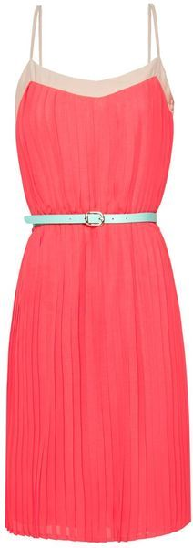 Coral Cocktail Dress - I put this on my fitness board because it is going to look fabulous with my newly toned arms and back!!!!
