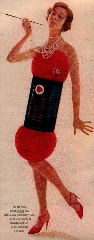 Another skeiny woman used in advertising. ;o) McCall's 1958