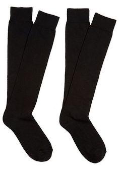 Tesco direct: F&F 2 Pack of Knee High Socks