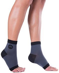 Plantar Fasciitis Compression Ankle Socks / Heel Arch Support For Men Or Women, Best For Nurses, Running, Travel, Diabetics, Sports & More! 1 Pair of Toeless Easy On Foot Sleeves by BlackMount. BlackMount