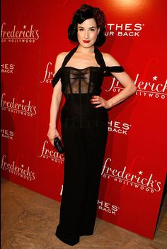teesemedita:    Dita Von Teese at the Fredericks of Hollywood Auction to Benefit Clothes Off Our Backs at the Fredricks of Hollywood store in October, 2007, in Hollywood, California.   (photo by Jeff Vespa)
