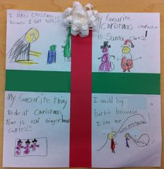 Cute Christmas writing activity - Could also use for recount {First, Next, Then, Finally}