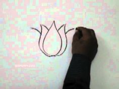 How to Draw a Lotus #DIY #art #flowers