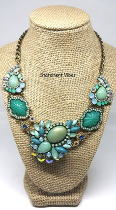 Hey, I found this really awesome Etsy listing at https://www.etsy.com/listing/457096670/crystal-statement-necklace-turquoise