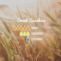 Sweet Sunshine — Essential Oil Diffuser Blend | #essentialoils #essentialoilrecipes #healthy3d @healthy3d