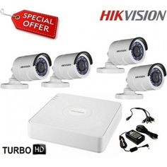 #Готов #комплект за #видеонаблюдение HD-TVI с #4 #булет #камери #HIKVISION 4CH-OUT