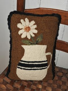 white pitcher Would be great,with wool applique