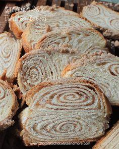 Cinnamon Swirl Twisted Bread – Chocolate Chocolate and More! Cinnamon Swirl Twisted Bread-you won't believe how easy this bread is to make! Bread Recipes, Baking Recipes, Dessert Recipes, Muffins, Bread Bun, Bread Rolls, Strudel, French Donuts, Cinnamon Swirl Bread
