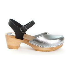 Two Tone Metallic Clog Silver I, $149, now featured on Fab.