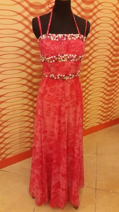 #eveninggown#pink#pearl#