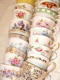 Collection of Vintage Tea Cups from The Jolly Vintage Tea Party