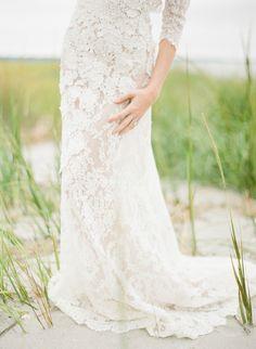 Organic Seaside Wedding Ideas from Bliss and Bokeh via oncewed.com